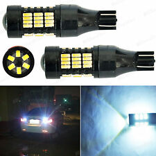 DuraFlux 30W 921 T10 T15 LED Back Up Reverse Light Bulbs 54-SMD Super White Lamp