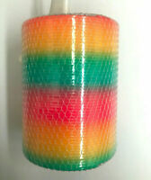 4x Colourful Rainbow Spring Slinky Plastic Large Kids Toys Gift Party Favour