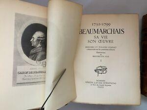 Ancien - BEAUMARCHAIS, Sa vie, Son oeuvre 4vol -1932- Numéroté - Illustré Vox