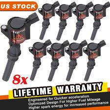 Super Ignition Coils Pack Spark Plug For Ford F150 F250 F550 4.6/5.4L V8 DG508