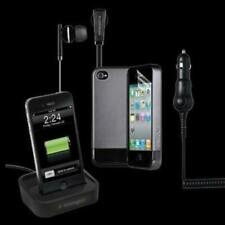Verizon Soft Touch Cover/Stereo Headset for iPhone 4 - Combo Pack - Retail Pac..