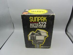 Sunpak Thyristor Auto 522 Electronic Torch Type Flash Unit Gun w/ Box
