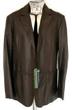 Men's Mulberry Brown Leather Jacket EU52 XL RRP £995 coat veste cuir