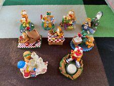 Lot of 9 - Garfield Danbury Mint Jim Davis Figurines
