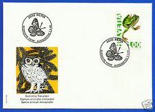 SWITZERLAND, ENDANGERED SPECIES (Hyla arborea) 1995, FDC, MICHEL # 1546
