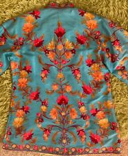 New listing Beautiful Vintage Chinese Forbidden Stitch Silk Embroidery Robe Jacket