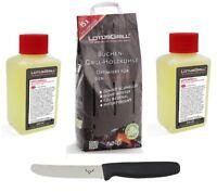 LotusGrill Buchenholzkohle 2,5 kg und 2xBrennpaste inkl. Edelwild-Allzweckmesser