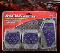 GRAY BLUE M//T CLUTCH BRAKE GAS PEDAL PADS FOR FIESTA FOCUS MUSTANG F150 RANGER
