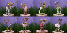 Patience Brewster SET of 8 MINI DASHAWAY REINDEER ornaments KRINKLES NIB CUTE!!