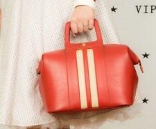 60s vintage red & cream bowling bag gladstone bag