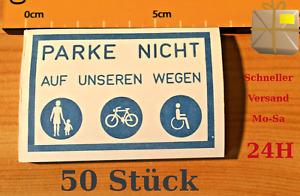 Aufkleber Falschparker PARKE NICHT AUF UNSEREN WEGEN 50 Stk.Block Spuckis Zettel