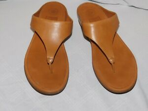 FITFLOP BROWN LEATHER SANDALS SIZE 9US  UK7  EU41