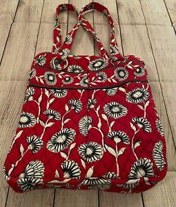 Vera Bradley Perfect Tote in Deco Daisy - Shoulder Bag, Purse - Red/White Floral