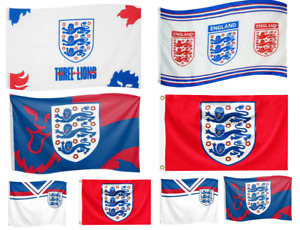 ENGLAND FLAG EURO FA THREE LIONS FREE DELIVERY  5'X3' FLAG 2020 ITS COMING HOME