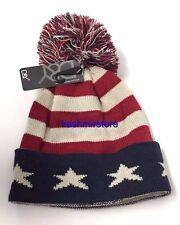 Winter Knit USA American Flag Stars Stripes Beanie Skull Ski Hat UNISEX NEW