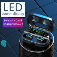 S11 TWS Wireless Bluetooth 5.0 binaurales Touch Control-Headset mit Ladekoffer