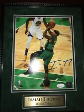 Boston Celtics Isaiah Thomas Hand Signed Picture 8x10 with 11x14 Frame