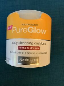 Neutrogena PureGlow Daily Cleansing Cushions Pure Glow 24 CtNew Normal Dry RARE