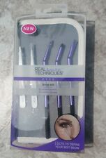 Real Techniques Makeup Brow Brush Set Makeup Artist Kit Eyebrow Tweezers