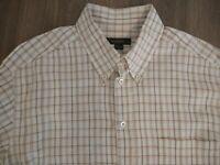 Ermenegildo Zegna Men's Lt Brown Checked Button Down Shirt Size XL - Sharp!!