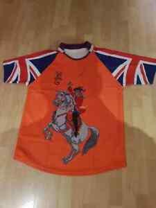 King Billy Orange Sash Sublimated Rugby shirt, Union flag sleeves