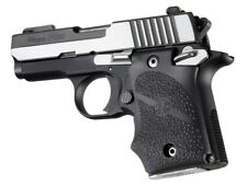 Hogue 98080 Sig Sauer P938 Ambi Safety Rubber Grip with Finger Grooves Black