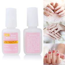 Nail Tip Glue Adhesive False Nail Glue Super Strong W/ BRUSH Fake Acrylic False
