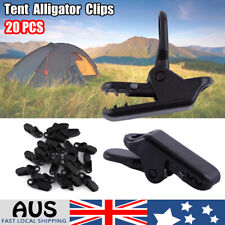 20pack Awning Tent Clamp Tarp Clips Set Canopy Snap Hangers Survival Camping Ca