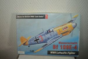 Model HOBBY CRAFT Aircraft Messerschmitt Bf 109 E-4 Plane New 1/48 Model Kit