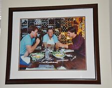 Ted Williams, Don Mattingly, Wade Boggs Autographed 16x20 Framed - JSA