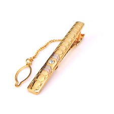 New Stainless Steel Austrian Crystal Gold Silver Tie Clip Clasp Wedding Gift Bag