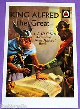 KING ALFRED the Great Ladybird Book Cover Postcard NEW