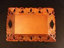 Hawaii Carved Floral Wood Serving Tray