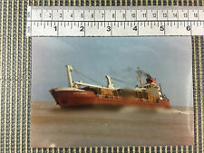 merchant vessel ship Schoonebeek Shoreham 1977 port harbour real photo
