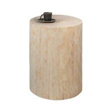 Beistelltisch Baumstamm Fichte unbehandelt Holzklotz Hocker Holzblock Säule
