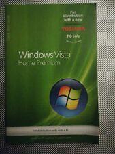 Window Vista Home Premium Quick Start Guide Booklet