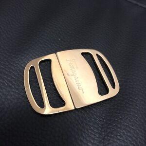 Authentic Salvatore Ferragamo Gold Logo Buckle For Belt - Vintage RARE Style