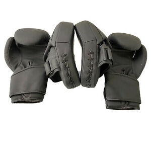 Boxing Gloves and Focus Pads Set Sparring Bag Hook Jab Gym Training MMA Adults