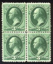 U.S. #158 CHOICE Mint VF BLOCK - 3c Green ($550)