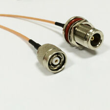 "WIFI antenna adapter RP TNC male plug to N  female bulkhead RG316 cable 30cm 12"""