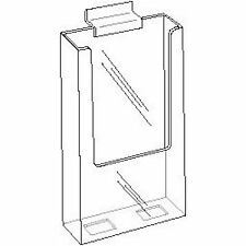 4x9 Clear Acrylic Slatwall Brochure Holder    Lot of 50    DS-LHW-Z141-50