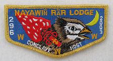 OA Lodge 296 Nayawin Rar S27 Flap 2002 CONCLAVE DELEGATE;A; Nighthawk h  [D1382]