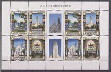 ARUBA 2010 kerken churches  vel van 2 series luxe postfris /mnh