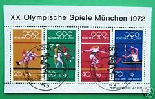 Block  8  ESST Bonn ,  BRD 1972,  Olymp. Spiele