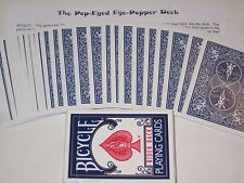 Pop-Eyed Popper Bicycle Trick Deck - Magic Card Trick, Close Up,  Force A Card