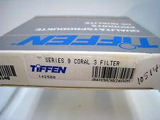 NUEVO Tiffen Serie 9 Cristal Redondo Coral 3 Filtro #s9co3 tamaño 82.5mm