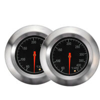 2 Pack Stainless Steel Barbecue BBQ Pit Smoker Grill Thermometer Gauge 60-430℃