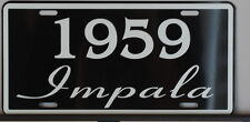 1959 59 IMPALA LICENSE PLATE 283 348 CONVERTIBLE CHEVY CHEVROLET LOW RIDER FINS