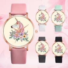Unicorn Watches Pink Wristwatch for Teenage Girls Young Women Fashion Elegant
