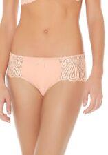 NWT $56 Wacoal Europe Melodie Boyshorts Bikini Brief Nude Pink Panties Women's S